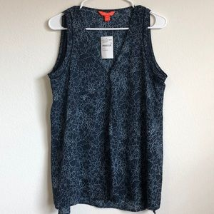 3 for $30 JOE FRESH TOP FLORAL MEDIUM SLEEVELESS